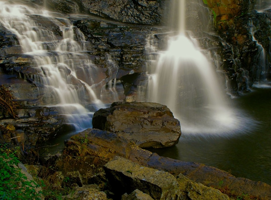 Visit Blackwater Falls State Park in the fall for a spectacular display of color and texture. Sli...