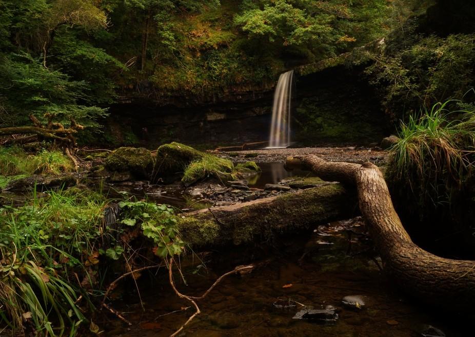 sgwd gwladus waterfalls, wales