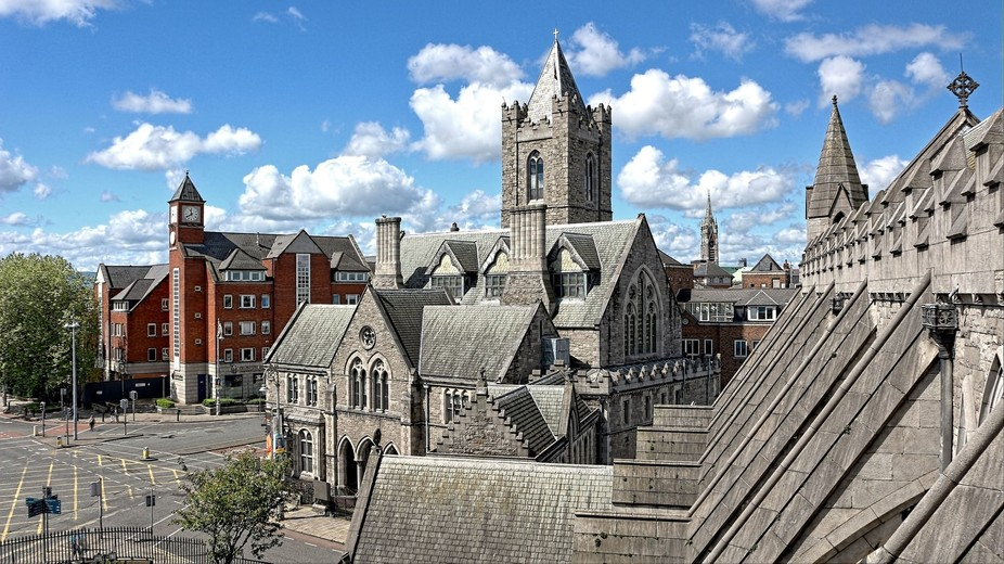 Recently I was treated to a spectacular view on a sunny day in Dublin, Ireland. This view is from...