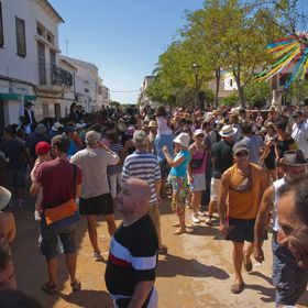 Life in San Climent, Menorca, during parties in Summer Time. Most common party elements in most Menorca towns are the horses. In the traditional ...