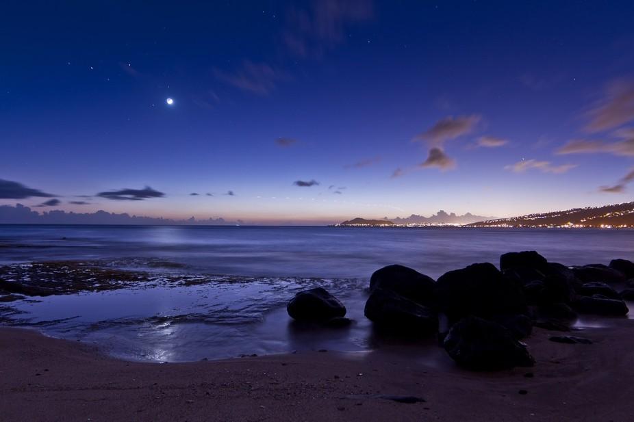 Maunalua Bay Moonlight