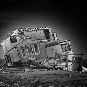 House destroyed by Sandy at New Jersey Shore, I went down the area once more a couple weeks ago, and this house was a perfect warning sign that m...