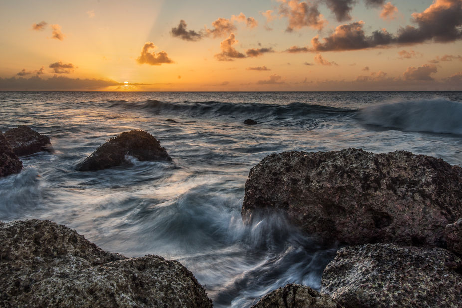 Taken on Cabras Island in Piti, Guam at sunset.  This image is composed of 5 exposures blended in...