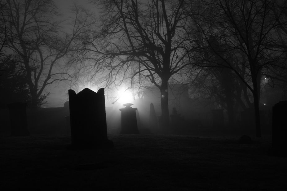Greyfriars cemetery on halloween night. This graveyard is famous for several reasons, a poltergei...