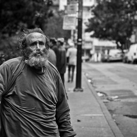 Homeless man in San Francisco