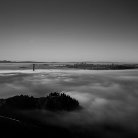 Karl the fog creeping into San Francisco
