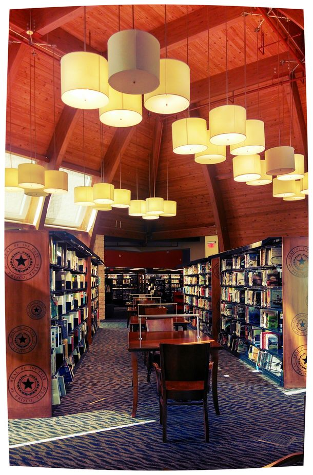 Frisco library. Love all the books.