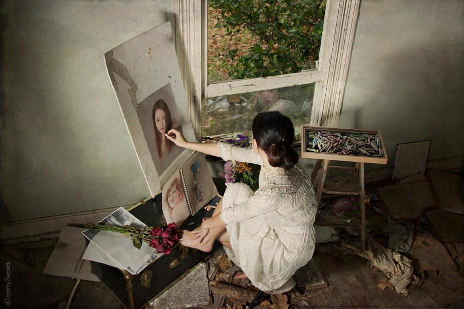 Her self portrait - Model- Demi Chen, MUA- Kavetta Taylor, Published 11-13-13 http://www.vogue.it...