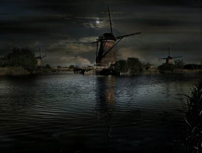 Evening at Kinderdijk