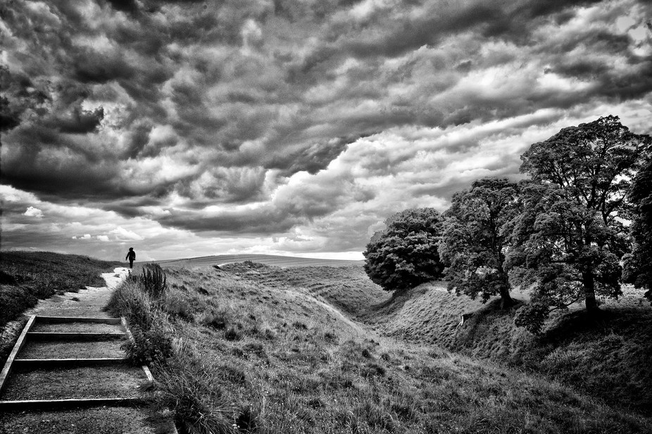 An angry sky in Avebury, Wiltshire