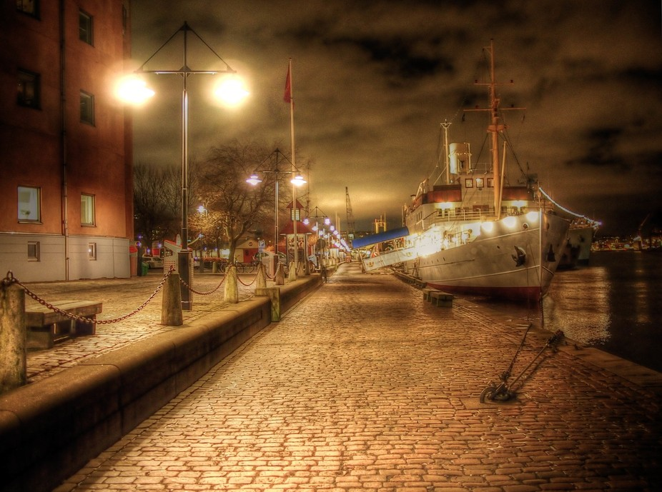 Docked in Sweden