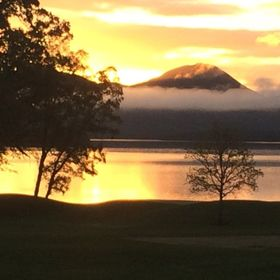 Sunrise over Loch Lomond at 5am after a full night of rain