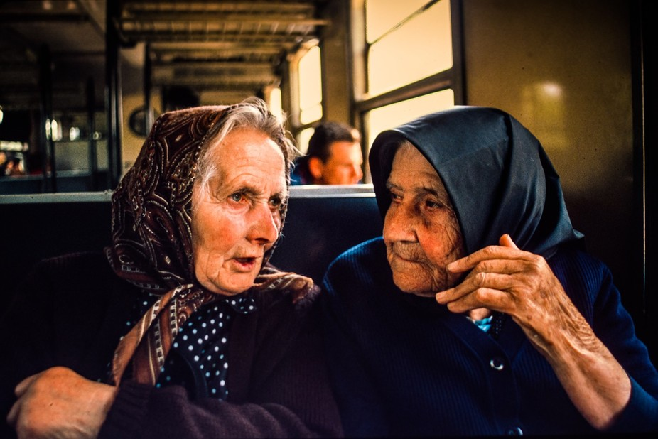 On a Hungarian train near the Serbian border two women seated behind me were so engrossed in conv...