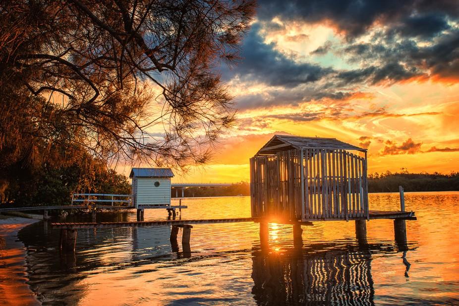Boatshed Sunset