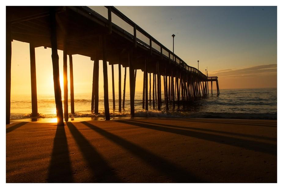 Sunrise @ the pier in Ocean City, MD