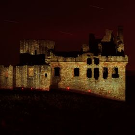 Chrichton Castle looking very creepy at long past midnight