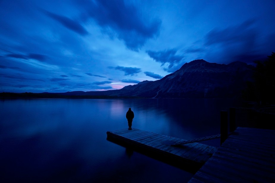 Waiting for the sunrise, Waterton Lakes National Park