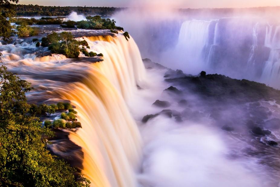 at Iguacu falls