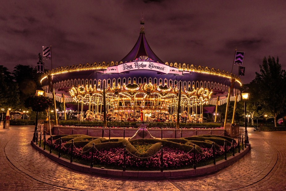 This is my vision of every littles girls dream carrousel.  Taken at Disneyland at night at the en...