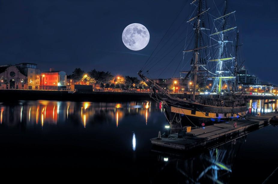 Tall ship, Dublin, Ireland