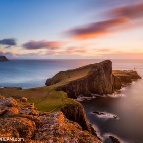 Neist Point in Scotland is amazing!. The weather changes incredibly fast and the wind can drop your camera, but the light can be amazing.