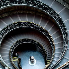 Vatican Museum - Spiral Staircase by Giuseppe Momo