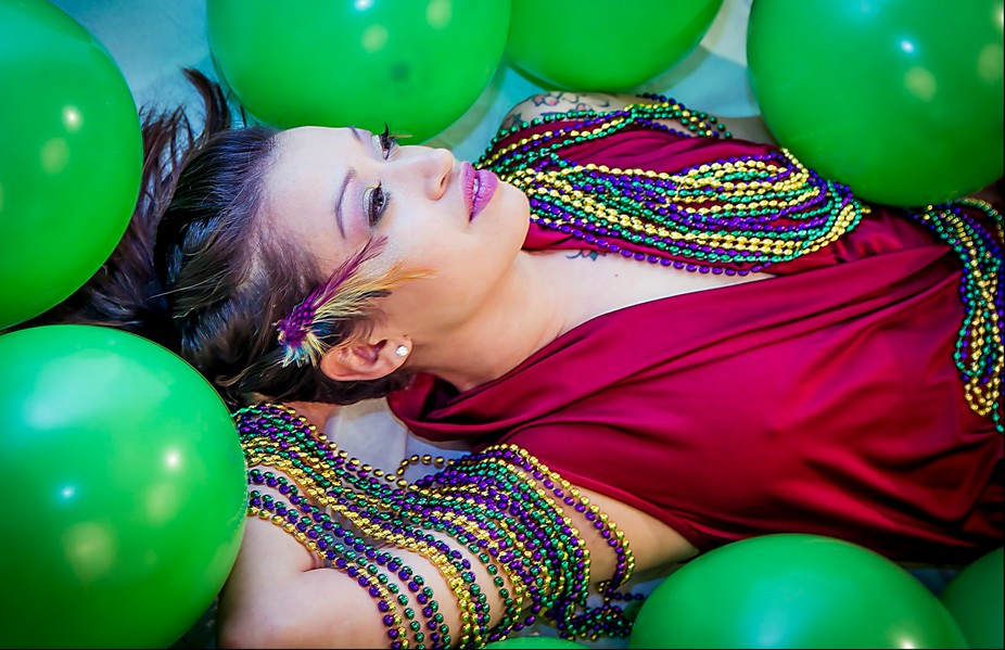 Mardi Gras was the inspiration for this shoot. However, rather than showing the partying side of ...