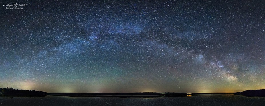 The Milky Way arch as seen in northen michigan in the spring