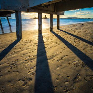 Under Belmont Memorial Pier - Long Beach California.