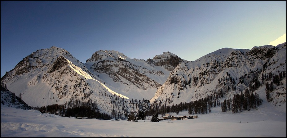Winter in Sertig, a small town near Davos, Switzerland.