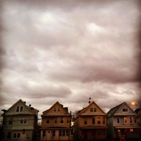A look at the storm clouds over houses