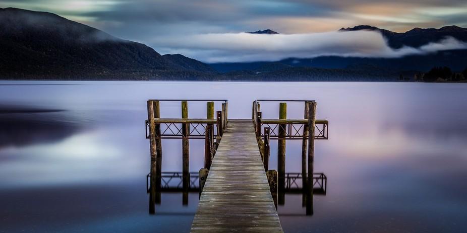 Pier on Lake Te Anau