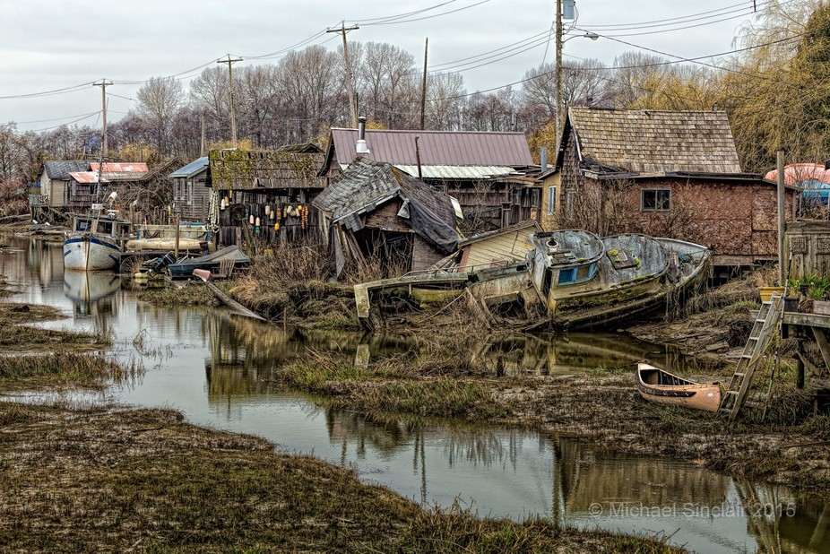 Finn Slough is a tiny Fraser River fishing community located at the south end of No. 4 Road in Ri...