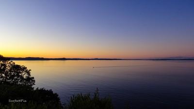 clam evening sunset