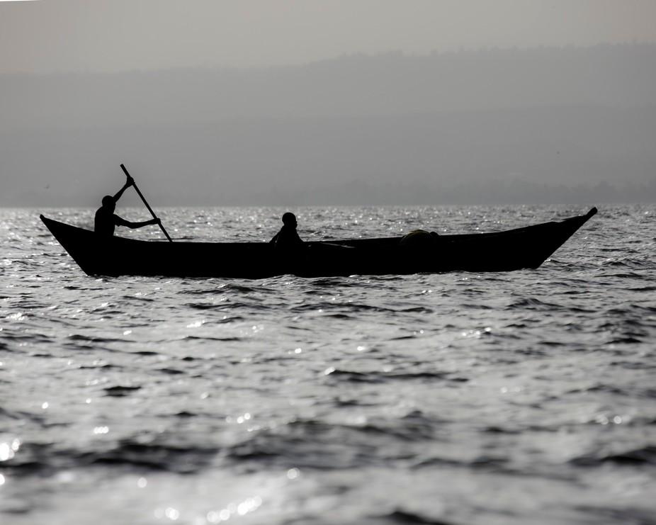 On Lake Victoria near Kisumu, Kenya.