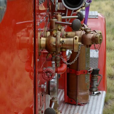 Old fire engine at a car show