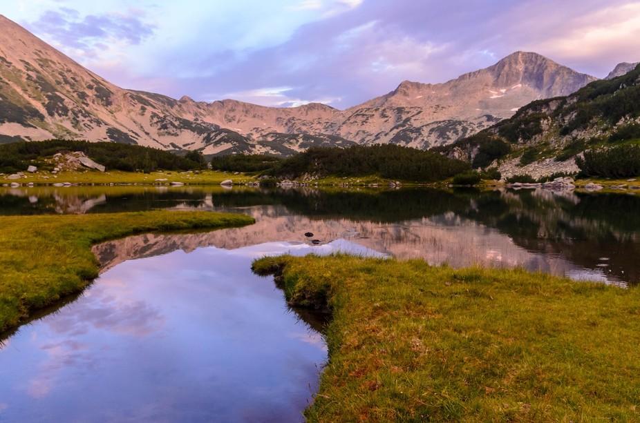Muratovo lake in Pirin Mountains, Bulgaria