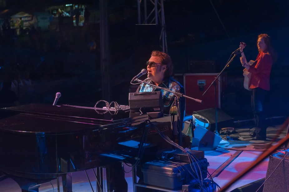 On the stage with the Ronnie Milsap Band at the Havre de Grace Seafood Festival 2015