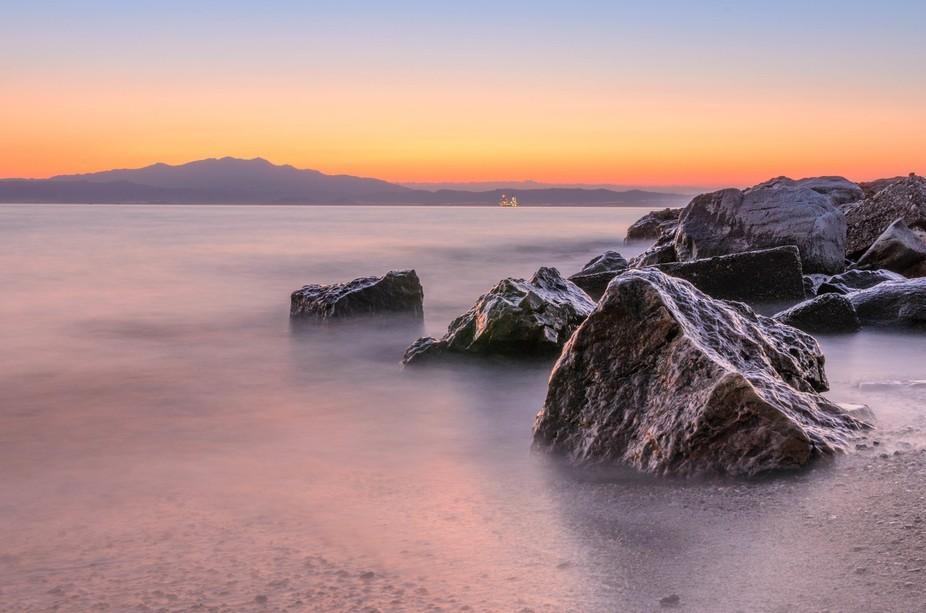 Sunset on Thassos, Greece