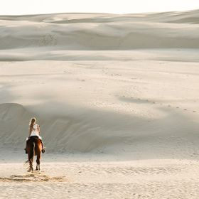 Horseback riding in the Oceano Dunes