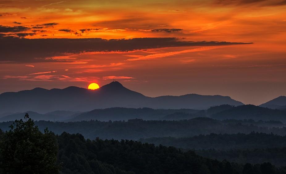 is dawning in Western North Carolina