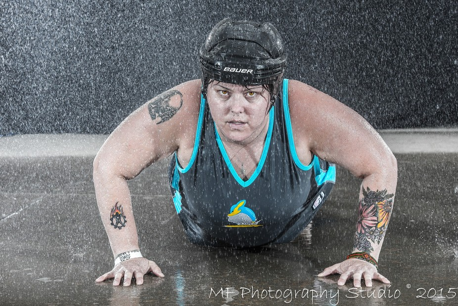 A sample image from my first photo shoot using my home-made rain rig.