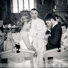 Groom struggled to get his ring on, the priests face is priceless