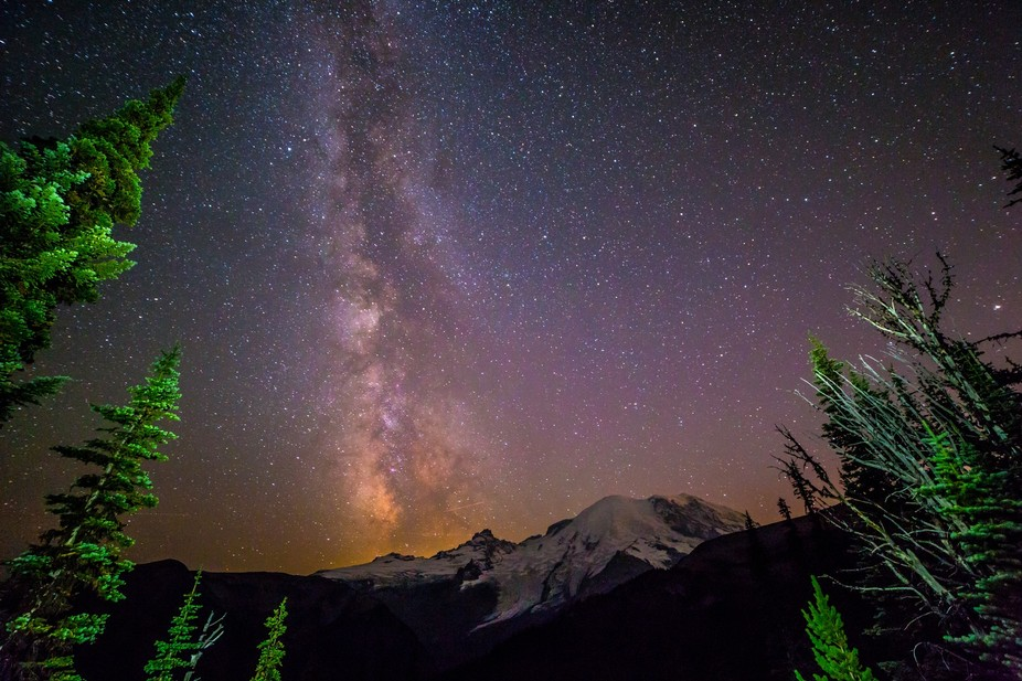 This was a beautiful summer night near Sunrise Point on Mt. Rainier, in Washington State. You can...