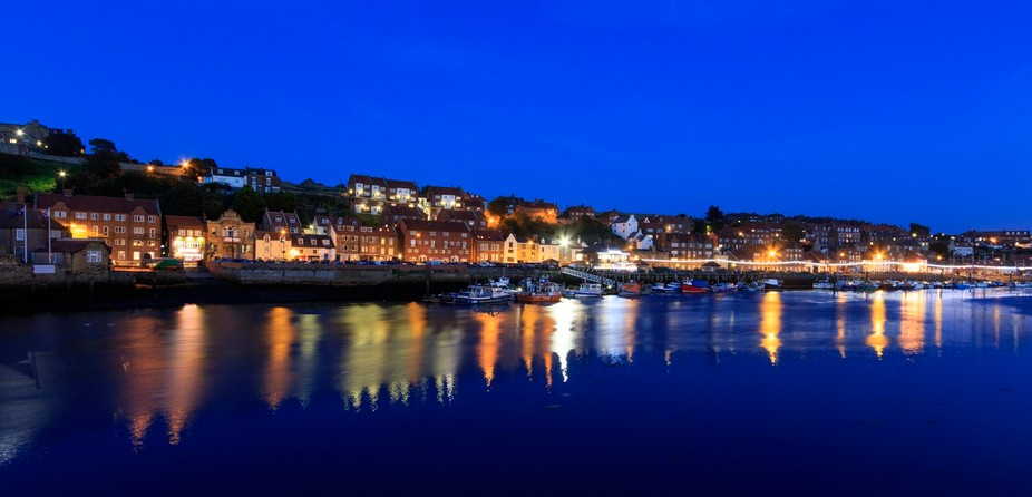 long exposure at night of Whitby North Yorkshire, UK No image manipulation only brightness and co...