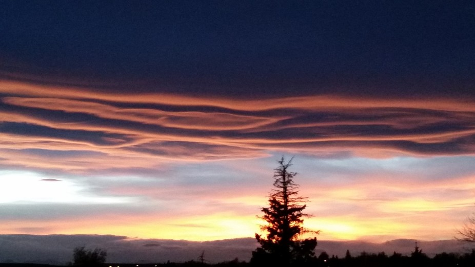It started with a Chinook arch then progressed into a multi coloured sky. That night was above av...