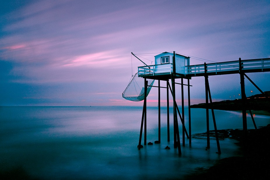 Long Exposure of 6 minutes and 50 seconds on the French Atlantic Coast (Saint Palais sur Mer). Th...