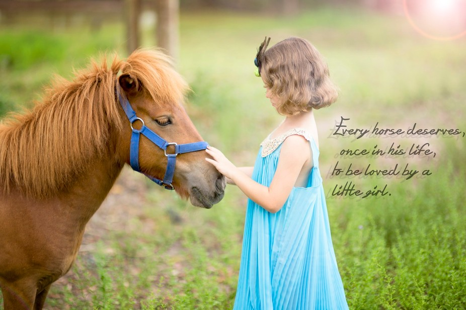 Honey the pony, hasn't had a great start in life, she was neglected, and kept in a chick...