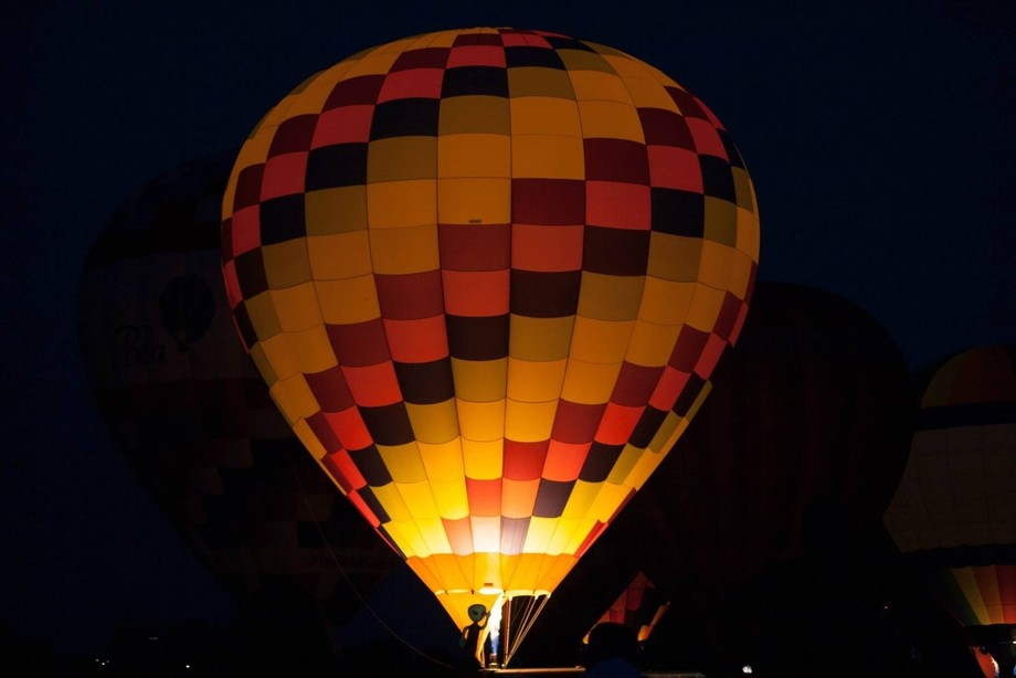 We went to a local hot-air balloon festival and I caught an alien!