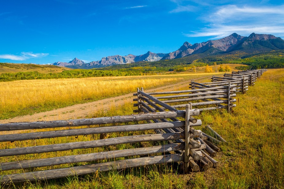 this shot was taken off of last dollar rd just outside of telluride, colorado. One of the most be...